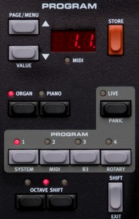 The Nord Electro 4 Program Panel